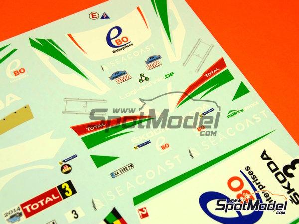 Image 7: Skoda Fabia S2000 Ebo Enterprises - Rally de Ypres de Belgica 2014 | Calcas de agua en escala1/24 fabricado por Racing Decals 43 (ref.RD24-018)