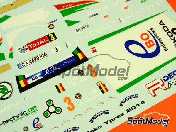 Image 8: Skoda Fabia S2000 Ebo Enterprises - Rally de Ypres de Belgica 2014 | Calcas de agua en escala1/24 fabricado por Racing Decals 43 (ref.RD24-018)