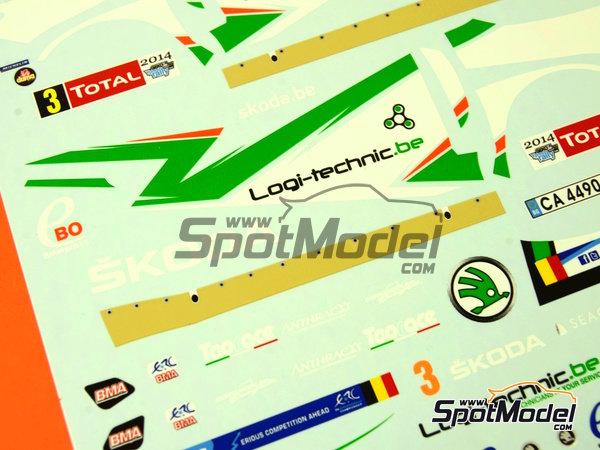 Image 10: Skoda Fabia S2000 Ebo Enterprises - Rally de Ypres de Belgica 2014 | Calcas de agua en escala1/24 fabricado por Racing Decals 43 (ref.RD24-018)