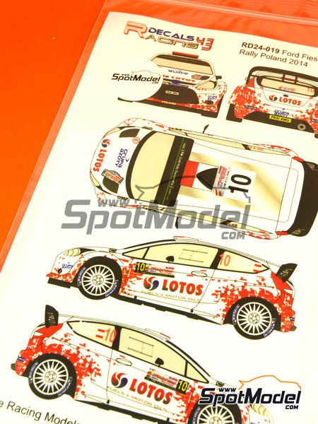 Ford Fiesta WRC Lotos - Rally Poland 2014 | Decals in 1/24 scale manufactured by Racing Decals 43 (ref. RD24-019) image