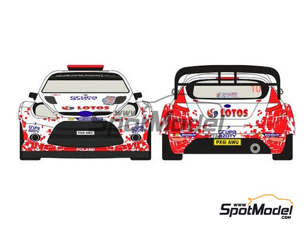 Image 1: Ford Fiesta WRC Lotos - Rally Poland 2014 | Decals in 1/24 scale manufactured by Racing Decals 43 (ref. RD24-019)