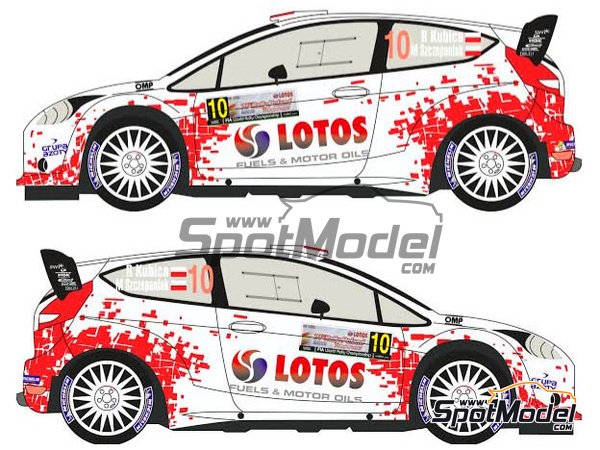 Image 3: Ford Fiesta WRC Lotos - Rally Poland 2014 | Decals in 1/24 scale manufactured by Racing Decals 43 (ref. RD24-019)