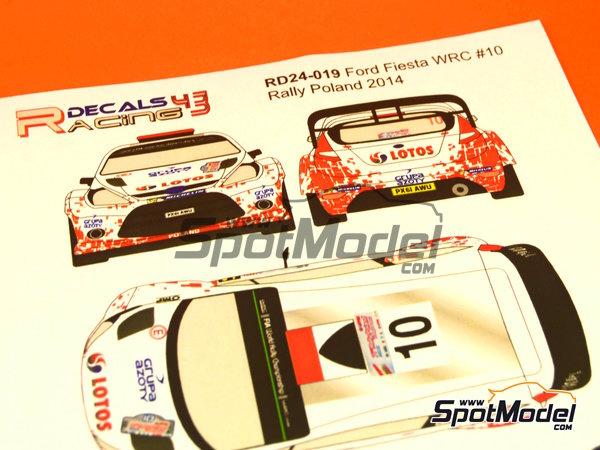 Image 4: Ford Fiesta WRC Lotos - Rally de Polonia 2014   Calcas de agua en escala1/24 fabricado por Racing Decals 43 (ref.RD24-019)