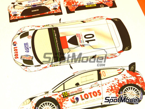Image 5: Ford Fiesta WRC Lotos - Rally Poland 2014 | Decals in 1/24 scale manufactured by Racing Decals 43 (ref. RD24-019)
