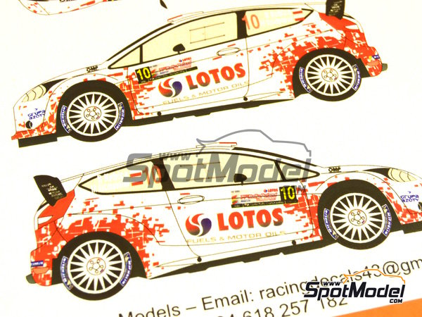 Image 6: Ford Fiesta WRC Lotos - Rally Poland 2014 | Decals in 1/24 scale manufactured by Racing Decals 43 (ref. RD24-019)