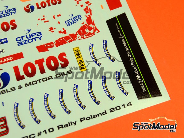 Image 9: Ford Fiesta WRC Lotos - Rally Poland 2014 | Decals in 1/24 scale manufactured by Racing Decals 43 (ref. RD24-019)