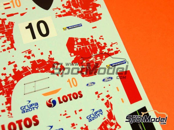 Image 10: Ford Fiesta WRC Lotos - Rally Poland 2014 | Decals in 1/24 scale manufactured by Racing Decals 43 (ref. RD24-019)