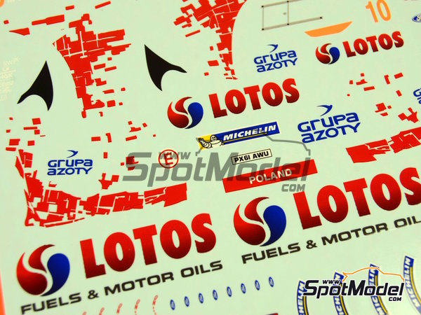 Image 12: Ford Fiesta WRC Lotos - Rally Poland 2014 | Decals in 1/24 scale manufactured by Racing Decals 43 (ref. RD24-019)