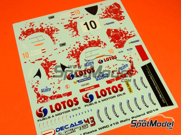 Image 14: Ford Fiesta WRC Lotos - Rally Poland 2014 | Decals in 1/24 scale manufactured by Racing Decals 43 (ref. RD24-019)