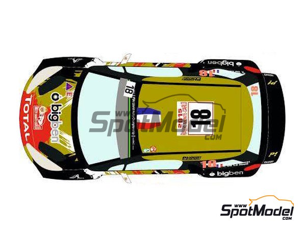 Image 2: Citroen DS3 WRC BRM - Montecarlo Rally - Rallye Automobile de Monte-Carlo 2015 | Decals in 1/24 scale manufactured by Racing Decals 43 (ref.RD24-021)
