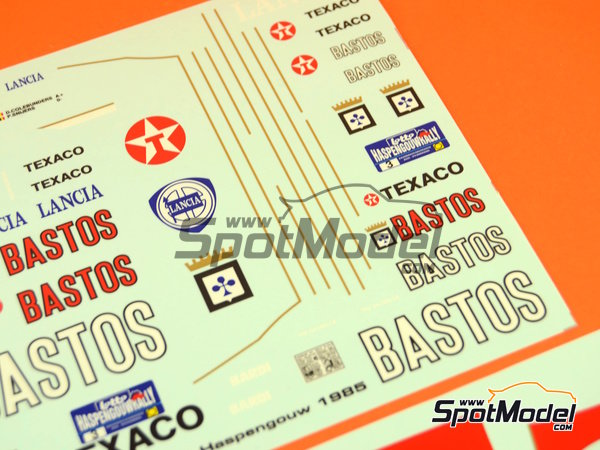 Image 6: Lancia 037 Rally Bastos Texaco Rally Team - Haspengow Rally 1985 | Marking / livery in 1/24 scale manufactured by Racing Decals 43 (ref.RD24-022)