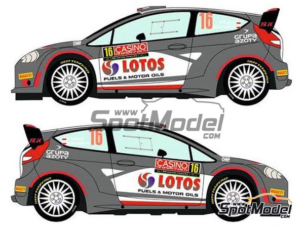 Image 4: Ford Fiesta RS WRC Lotos - Montecarlo Rally - Rallye Automobile de Monte-Carlo 2015 | Decals in 1/24 scale manufactured by Racing Decals 43 (ref. RD24-023)