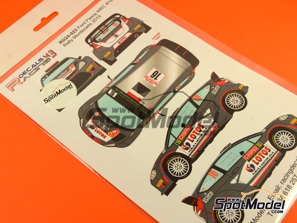 Image 5: Ford Fiesta RS WRC Lotos - Montecarlo Rally - Rallye Automobile de Monte-Carlo 2015 | Decals in 1/24 scale manufactured by Racing Decals 43 (ref. RD24-023)