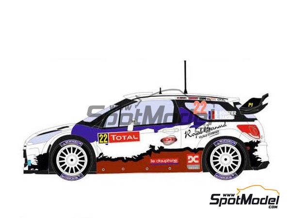 Image 3: Citroen DS3 WRC Royal Bernard - Montecarlo Rally 2013 | Marking / livery in 1/24 scale manufactured by Racing Decals 43 (ref.RD24-024)