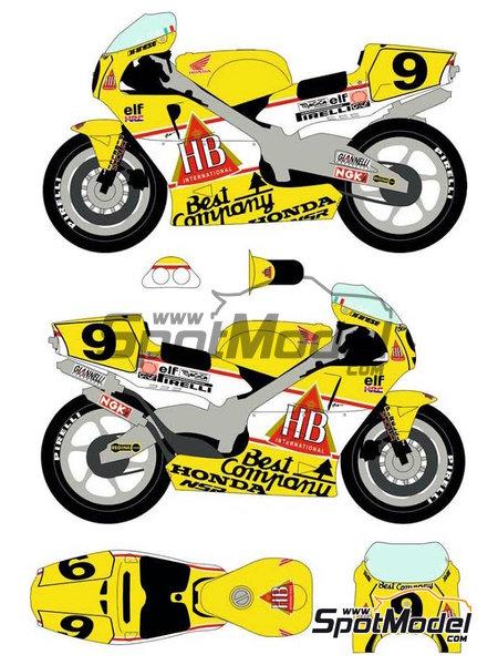 Honda NSR500 HB - Campeonato del Mundo de Motociclismo 1989 | Decoración en escala1/12 fabricado por Racing Decals 43 (ref.RDB12-001) image