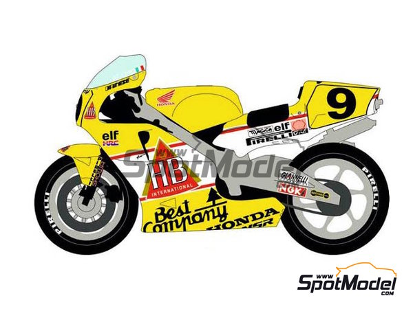Image 1: Honda NSR500 HB - Campeonato del Mundo de Motociclismo 1989 | Decoración en escala1/12 fabricado por Racing Decals 43 (ref.RDB12-001)