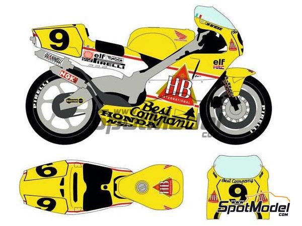 Image 2: Honda NSR500 HB - Campeonato del Mundo de Motociclismo 1989 | Decoración en escala1/12 fabricado por Racing Decals 43 (ref.RDB12-001)