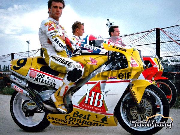 Image 3: Honda NSR500 HB - Campeonato del Mundo de Motociclismo 1989 | Decoración en escala1/12 fabricado por Racing Decals 43 (ref.RDB12-001)