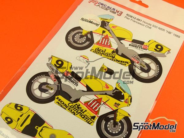 Image 5: Honda NSR500 HB - Campeonato del Mundo de Motociclismo 1989 | Decoración en escala1/12 fabricado por Racing Decals 43 (ref.RDB12-001)