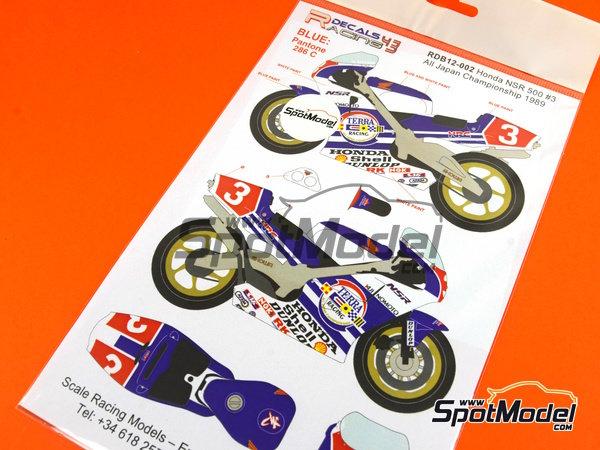 Image 3: Honda NSR500 Terra Racing -  1989 | Decoración en escala1/12 fabricado por Racing Decals 43 (ref.RDB12-002)