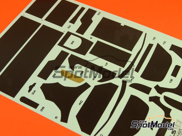 Image 2: McLaren MP4-12C GT3 | Carbon fibre pattern decal in 1/24 scale manufactured by Racing Decals 43 (ref.RDC24-002)