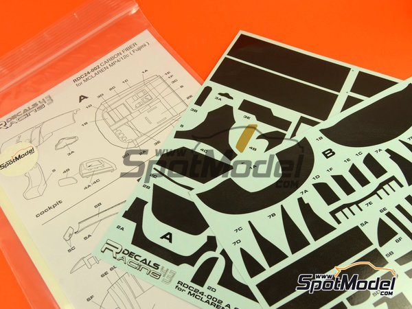 Image 4: McLaren MP4-12C GT3 | Carbon fibre pattern decal in 1/24 scale manufactured by Racing Decals 43 (ref.RDC24-002)