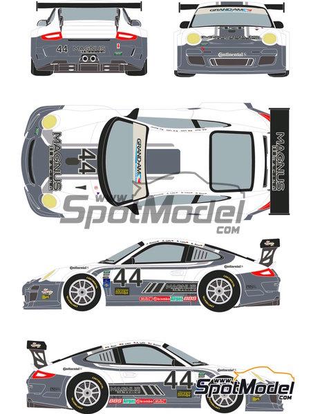 Porsche 911 GT3 Magnus Racing - 24 Horas de Daytona 2012 | Calcas de agua en escala1/24 fabricado por Racing Decals 43 (ref.RDE24-003) image