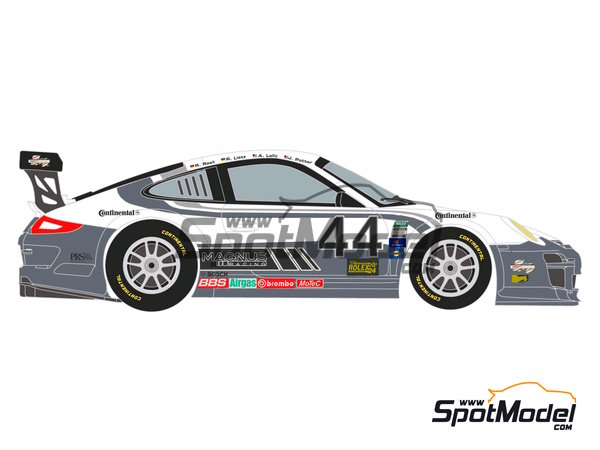 Image 1: Porsche 911 GT3 Magnus Racing - 24 Horas de Daytona 2012 | Calcas de agua en escala1/24 fabricado por Racing Decals 43 (ref.RDE24-003)