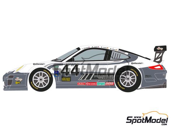 Image 2: Porsche 911 GT3 Magnus Racing - 24 Horas de Daytona 2012 | Calcas de agua en escala1/24 fabricado por Racing Decals 43 (ref.RDE24-003)