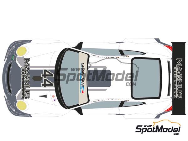 Image 3: Porsche 911 GT3 Magnus Racing - 24 Horas de Daytona 2012 | Calcas de agua en escala1/24 fabricado por Racing Decals 43 (ref.RDE24-003)