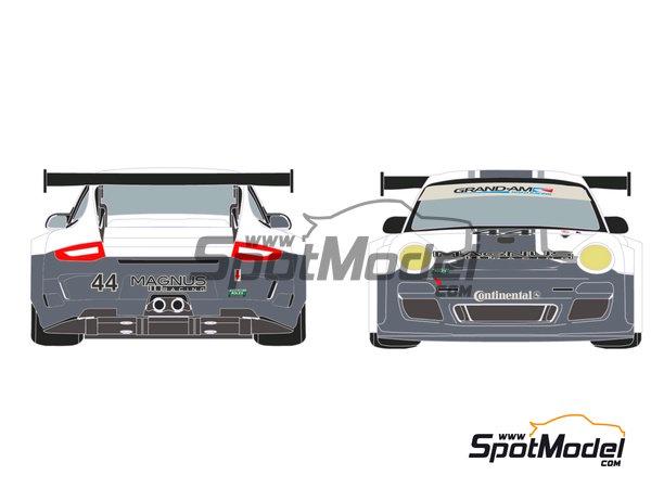 Image 4: Porsche 911 GT3 Magnus Racing - 24 Horas de Daytona 2012 | Calcas de agua en escala1/24 fabricado por Racing Decals 43 (ref.RDE24-003)