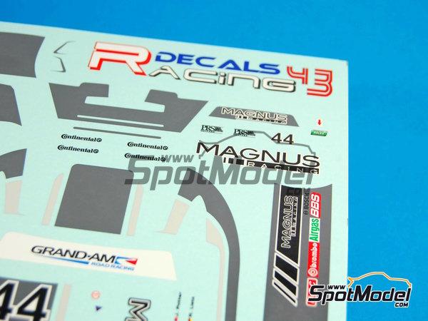 Image 7: Porsche 911 GT3 Magnus Racing - 24 Horas de Daytona 2012 | Calcas de agua en escala1/24 fabricado por Racing Decals 43 (ref.RDE24-003)