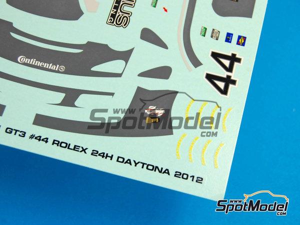 Image 10: Porsche 911 GT3 Magnus Racing - 24 Horas de Daytona 2012 | Calcas de agua en escala1/24 fabricado por Racing Decals 43 (ref.RDE24-003)