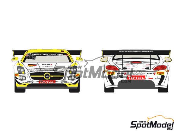 Image 1: Mercedes Benz SLS AMG GT3 HTP Motorsport - 24 Horas de SPA Francorchamps 2013 | Decoración en escala1/24 fabricado por Racing Decals 43 (ref.RDE24-004)