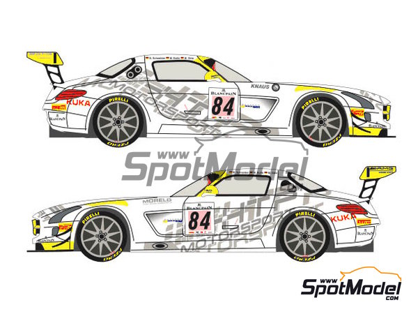 Image 3: Mercedes Benz SLS AMG GT3 HTP Motorsport - 24 Hours SPA Francorchamps 2013 | Marking / livery in 1/24 scale manufactured by Racing Decals 43 (ref.RDE24-004)