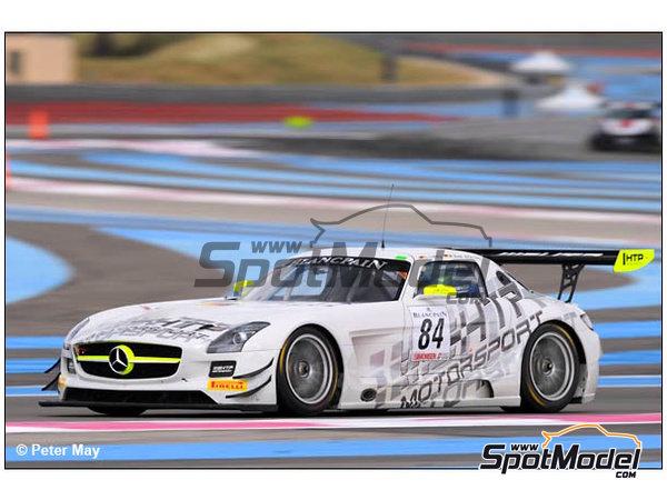 Image 4: Mercedes Benz SLS AMG GT3 HTP Motorsport - 24 Horas de SPA Francorchamps 2013 | Decoración en escala1/24 fabricado por Racing Decals 43 (ref.RDE24-004)