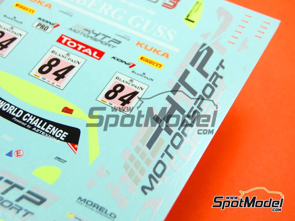 Image 7: Mercedes Benz SLS AMG GT3 HTP Motorsport - 24 Hours SPA Francorchamps 2013 | Marking / livery in 1/24 scale manufactured by Racing Decals 43 (ref.RDE24-004)
