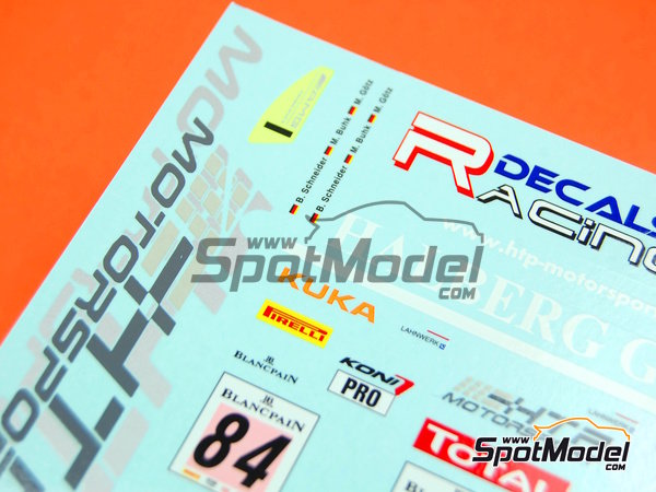 Image 8: Mercedes Benz SLS AMG GT3 HTP Motorsport - 24 Hours SPA Francorchamps 2013 | Marking / livery in 1/24 scale manufactured by Racing Decals 43 (ref.RDE24-004)