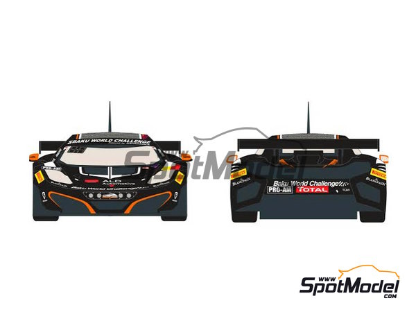 Image 1: McLaren MP4-12C ALD Automotive - 24 Hours SPA Francorchamps 2013 | Marking / livery in 1/24 scale manufactured by Racing Decals 43 (ref.RDE24-007)