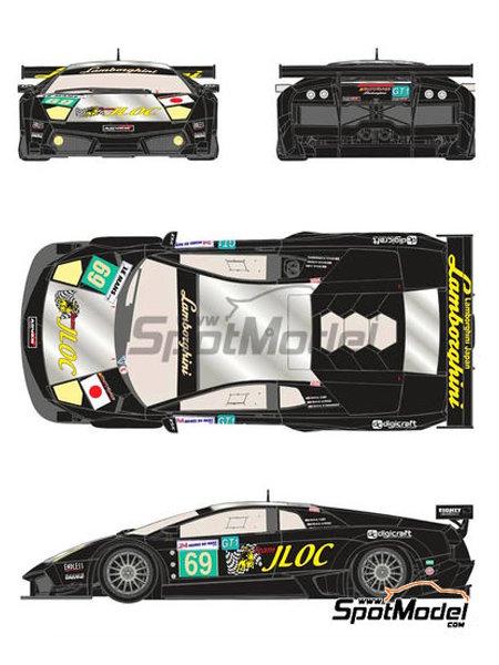 Lamborghini Murcielago LP670 R-SV JLOC - 24 Horas de Le Mans 2010 | Decoración en escala1/24 fabricado por Racing Decals 43 (ref.RDE24-008) image