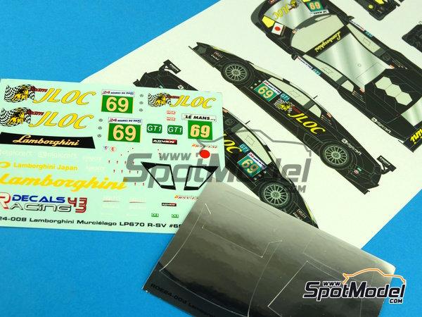 Image 1: Lamborghini Murcielago LP670 R-SV JLOC - 24 Horas de Le Mans 2010 | Decoración en escala1/24 fabricado por Racing Decals 43 (ref.RDE24-008)