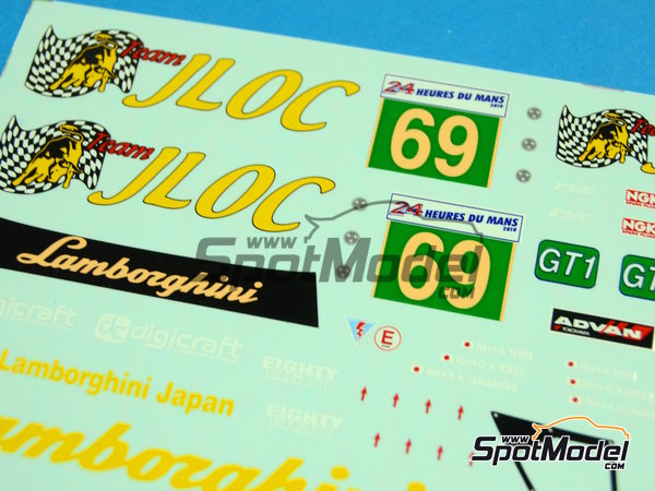 Image 2: Lamborghini Murcielago LP670 R-SV JLOC - 24 Horas de Le Mans 2010 | Decoración en escala1/24 fabricado por Racing Decals 43 (ref.RDE24-008)