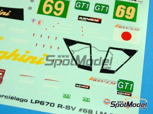 Image 3: Lamborghini Murcielago LP670 R-SV JLOC - 24 Horas de Le Mans 2010 | Decoración en escala1/24 fabricado por Racing Decals 43 (ref.RDE24-008)