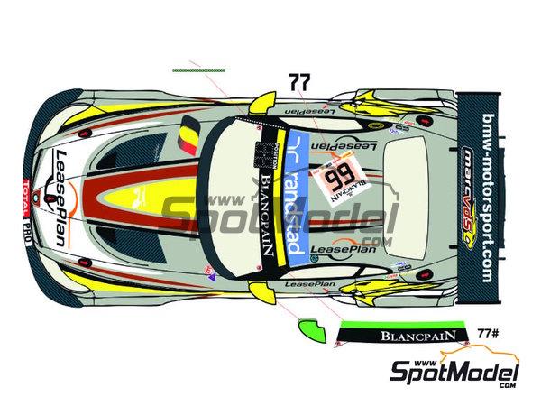 Image 2: BMW Z4 GT3 Randstad - 24 Horas de SPA Francorchamps 2014   Decoración en escala1/24 fabricado por Racing Decals 43 (ref.RDE24-009)