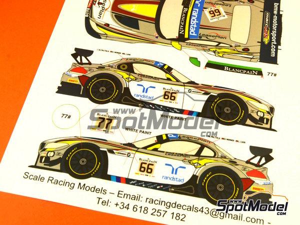 Image 5: BMW Z4 GT3 Randstad - 24 Horas de SPA Francorchamps 2014   Decoración en escala1/24 fabricado por Racing Decals 43 (ref.RDE24-009)