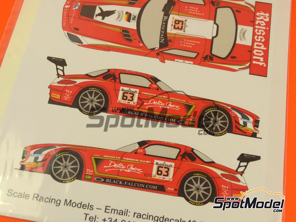 Image 3: Mercedes Benz SLS AMG GT3 Reissdorf - 24 Horas de SPA Francorchamps 2014 | Decoración en escala 1/24 fabricado por Racing Decals 43 (ref. RDE24-012)