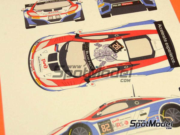 Image 10: McLaren MP4-12C GT3 MRS Accelerate experience - 24 Hours SPA Francorchamps 2014 | Marking / livery in 1/24 scale manufactured by Racing Decals 43 (ref. RDE24-013)