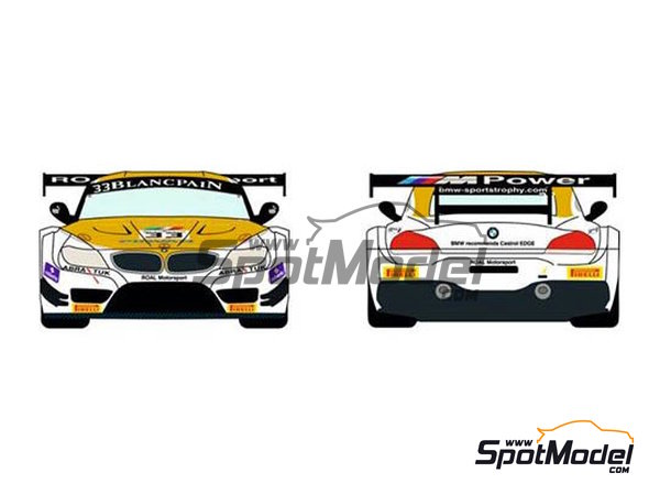 Image 1: BMW Z4 GT3 Roal Motorsport - Zolder DRM 2014 | Marking / livery in 1/24 scale manufactured by Racing Decals 43 (ref. RDE24-016)
