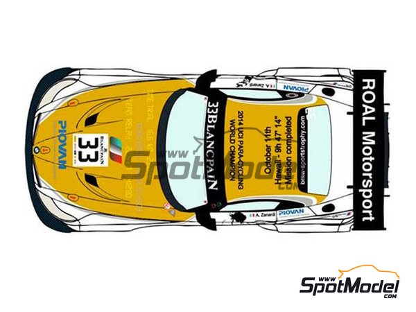 Image 2: BMW Z4 GT3 Roal Motorsport - Zolder DRM 2014 | Marking / livery in 1/24 scale manufactured by Racing Decals 43 (ref. RDE24-016)