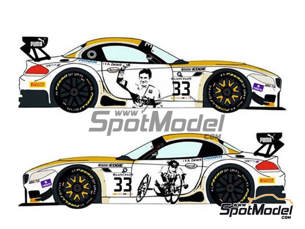 Image 3: BMW Z4 GT3 Roal Motorsport - Zolder DRM 2014 | Marking / livery in 1/24 scale manufactured by Racing Decals 43 (ref. RDE24-016)